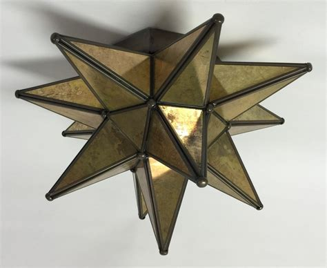 glass moravian star wall sconce 16 quot antique glass bronze