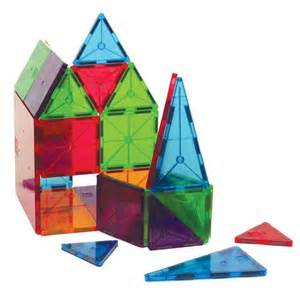 magna tiles clear colors 100 piece building set jet com