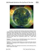 parts of the sun lesson plans worksheets lesson planet