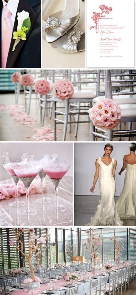 ideas  pink silver weddings  pinterest