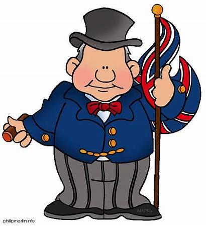 Churchill Clipart Union Jack Britain Winston Clip