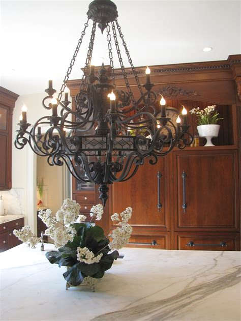 wrought iron chandelier kitchen trend large lighting