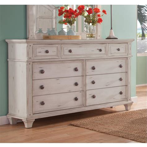 white drawer dresser american woodcrafters sedona 9 drawer antique cobblestone