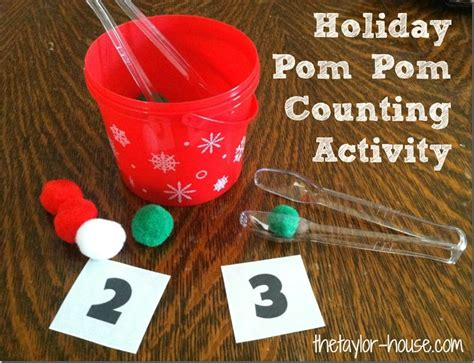 large group preschool christmas activities activity pom pom counting activity the house