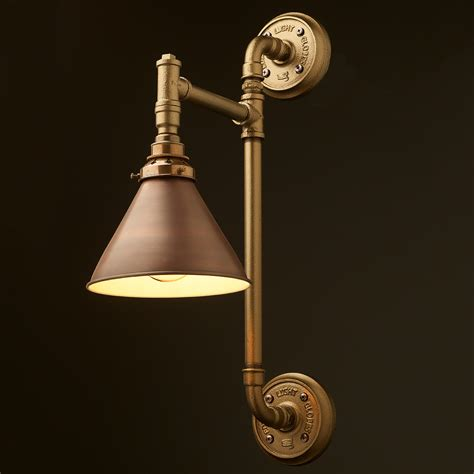 wall mount pipe light shade