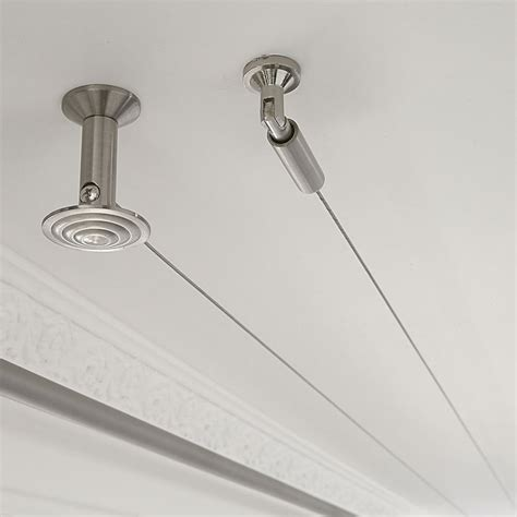 suspension rideau plafond tringle rideau