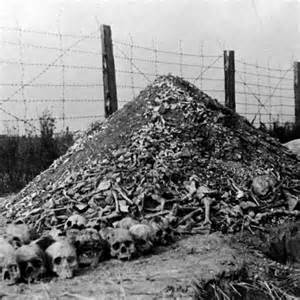Bones And Skulls At The Nazi Concentration Camp Of