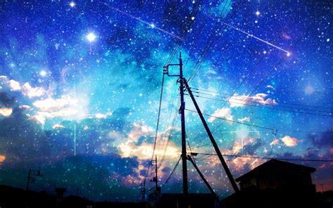 Starry Sky Anime Wallpaper - anime hd wallpaper 1920x1080 66038