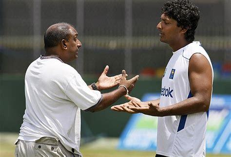 Aravinda de Silva and Kumar Sangakkara appear to be ...
