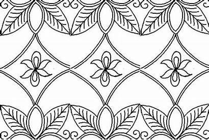 Batik Gambar Sketsa Motif Contoh Bunga Mewarnai