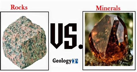 The Difference Between Rocks And Minerals