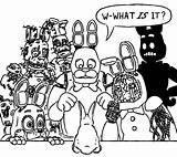 Fnaf Coloring Bonnie Freddy Nights Bunny Five Toy Sister Animatronics Withered Lol Naf Rabbit Funny Location Dibujos Printable Shadow They sketch template