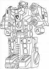Robot Coloring Pages Printable Adult Rangers Power sketch template