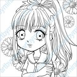 Anime Manga Girl Coloring Page