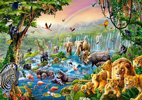 puzzle jungle river castorland   pieces jigsaw