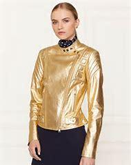 Ralph Lauren Metallic Leather Jacket