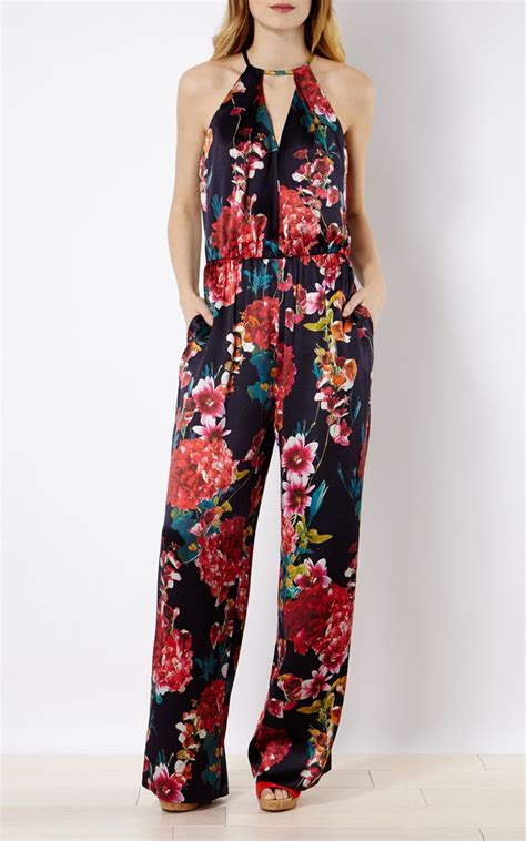 1378 Floral Silky Jumpsuit 25 best ideas about floral jumpsuit on casual