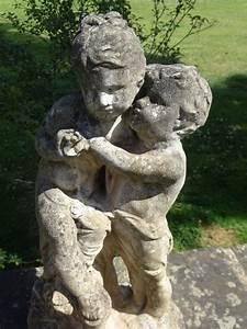 Vintage, Garden, Statue