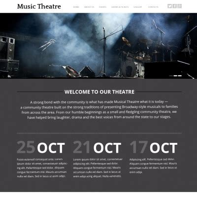 Theatre Responsive Website Template by Theater Templates Templatemonster