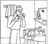 Shaving Bathroom Coloring Pages sketch template