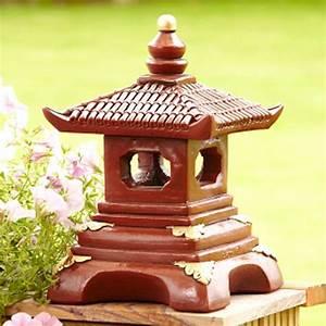 Red Japanese Pagoda - Oriental Garden Statues