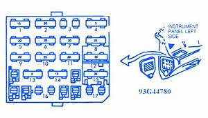 Chevrolet Corsica 1994 Instrument Panel Fuse Box  Block Circuit Breaker Diagram