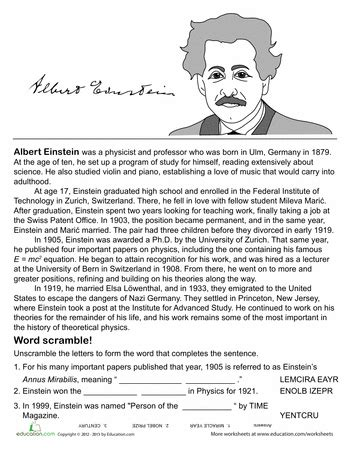 stephen hawking biography worksheet all about albert einstein albert einstein einstein and