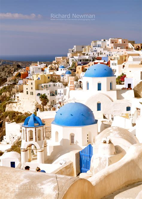 Greece Photography Santorini Blue Domes Mediterranean