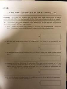 Solved  Name  Math 1643 Fall 2017