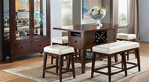 Julian Place Chocolate Vanilla 6 Pc Counter Height Dining