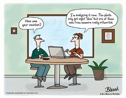 Social Marketing Cartoon Vacation Humor Funny Yourself