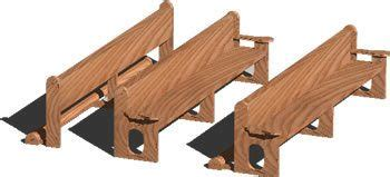 church bench  dwg model  autocad designs cad