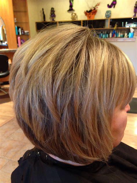 stacked bob chin length  hairstyle
