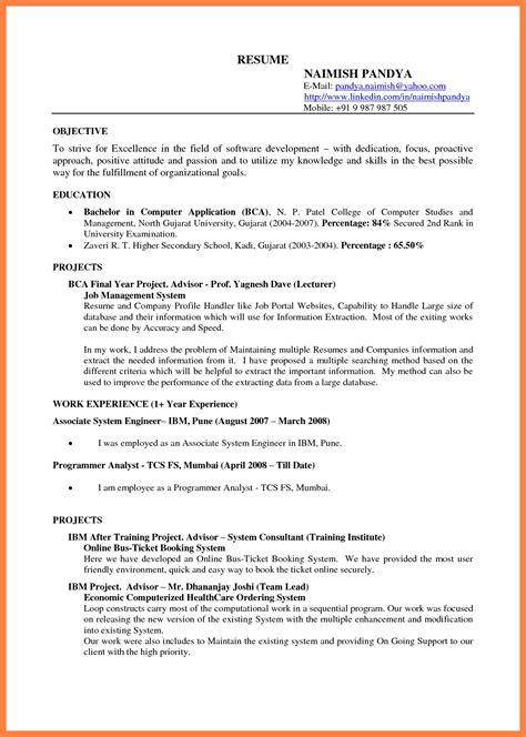 docs resume template sle resume cover letter format