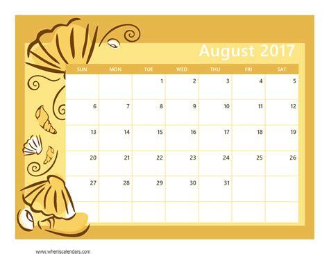 august 2017 calendar template weekly calendar template