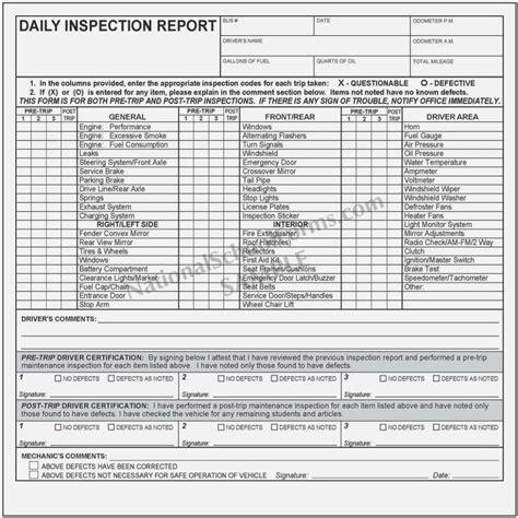 iowa dot pre trip inspection form mbm legal