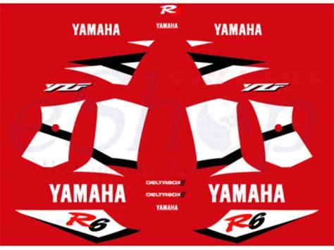 yzf   red set eshop stickers