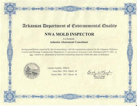 certified  mold  asbestos testingnwa mold insector