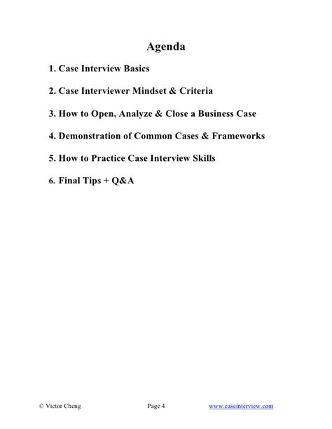 interview case case interview slides