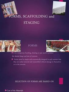 Forms  Scaffolding And Staging