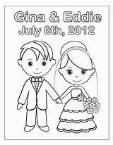 Coloring Bride Groom Pages Wedding Printable Popular sketch template