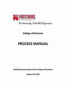Fsu College Of Business Process Manual