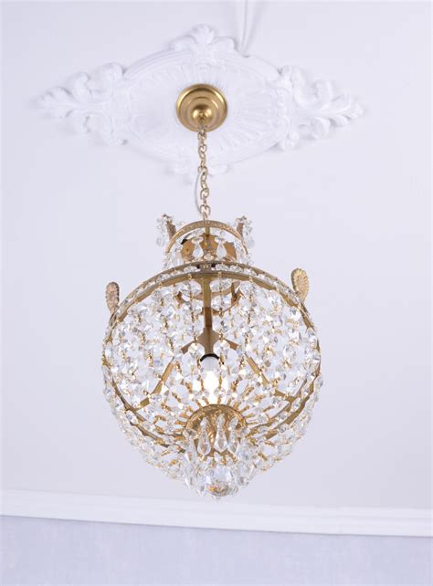 ceiling light chandelier crystal candelabra shabby chic