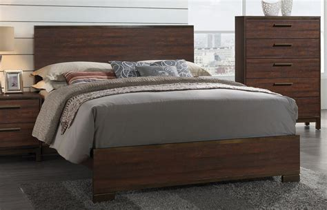 edmonton rustic tobacco platform bedroom set  coaster