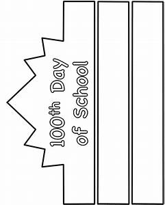 100th day of school hat paper craft black and white With 100th day hat template