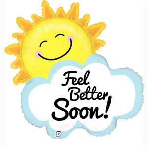 peppa pig ribbon feel better soon sun and cloud uninflated