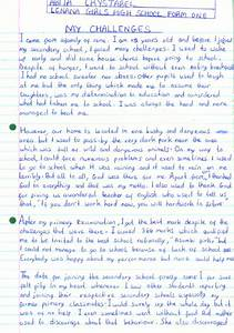 High School Entrance Essays Overcome Personal Challenges Essay Sample Essay On Economic Development also Lord Of The Flies Essays Personal Challenges Essay Vimy Ridge Essay Dealing With Life  Order Essays