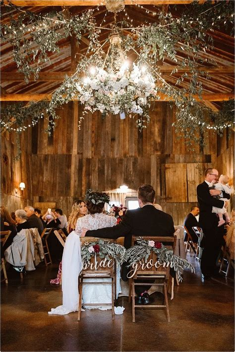 winter mountain wedding  tennessee barn wedding