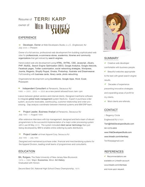 resume format for graphic designer fresher resume ideas