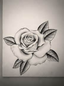 Black and Grey Rose Tattoo Drawings